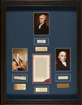 """The Federalist Papers"" Display Signed by James Madison, Alexander Hamilton & John Jay (BAS)"