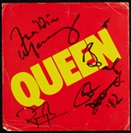 Queen Group-Signed Store Promo Display with Freddie Mercury (BAS)