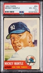 1953 Topps Mickey Mantle No. 82 PSA 4.5