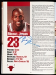 1989-90 Chicago Bulls NBA Champions Team-Signed Yearbook with Michael Jordan, Pippen (14) (BAS)